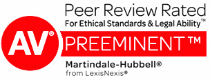 AV Preeminent Rated by Martindale Hubbell
